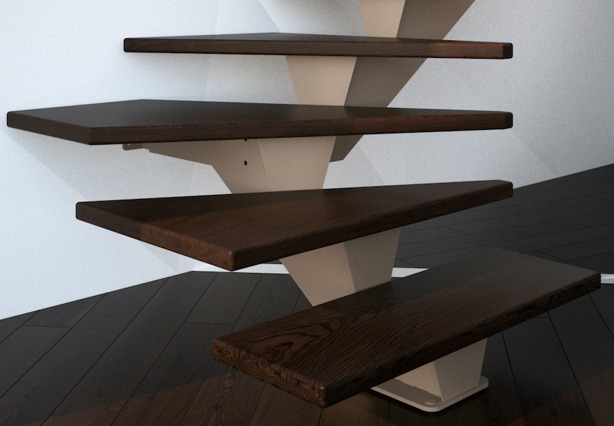 Escaliers m talliques l 39 espace escaliers magnin - Poutre espace ...